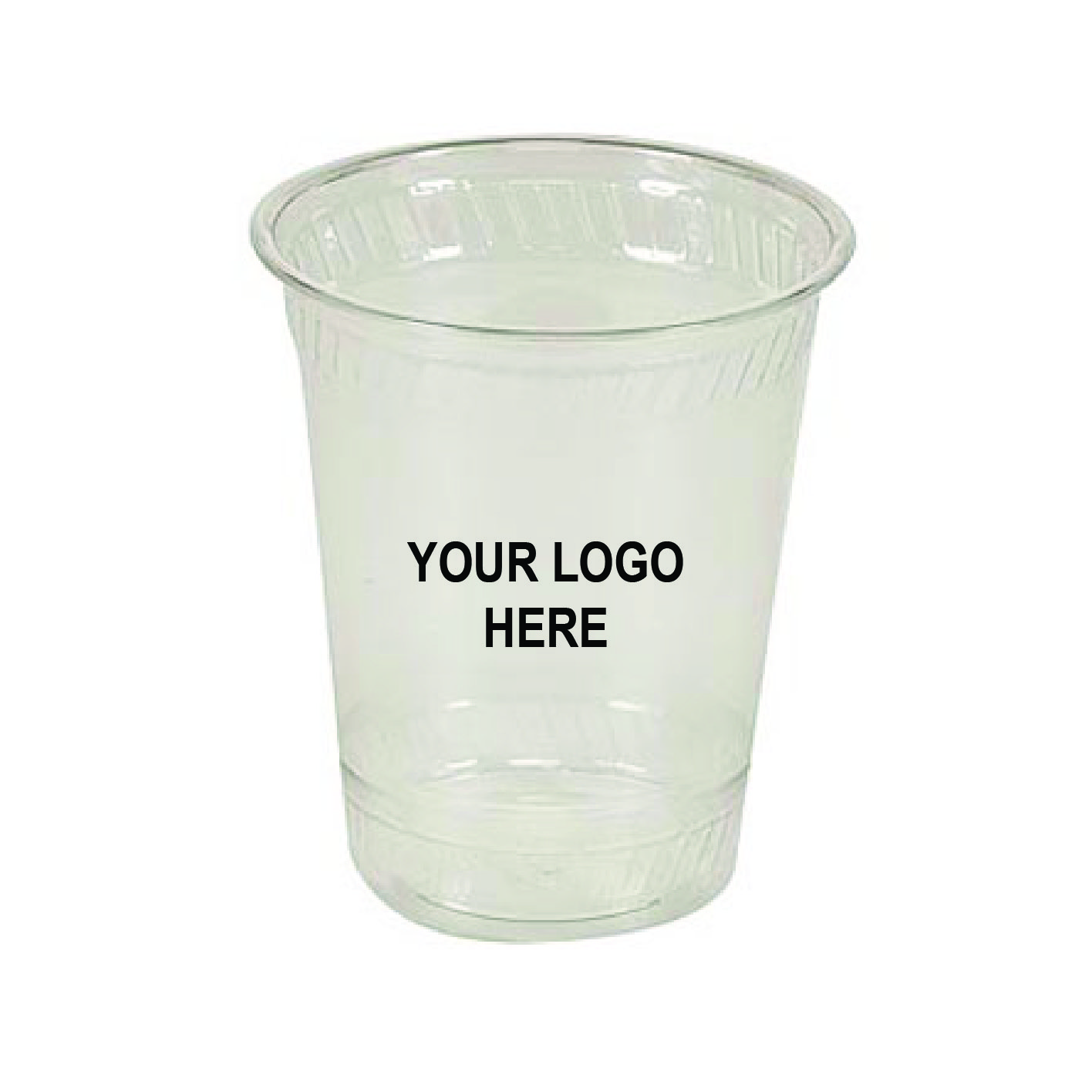 16 oz. Custom-Printed Clear PLA Compostable Plastic Cup (100/Pack)