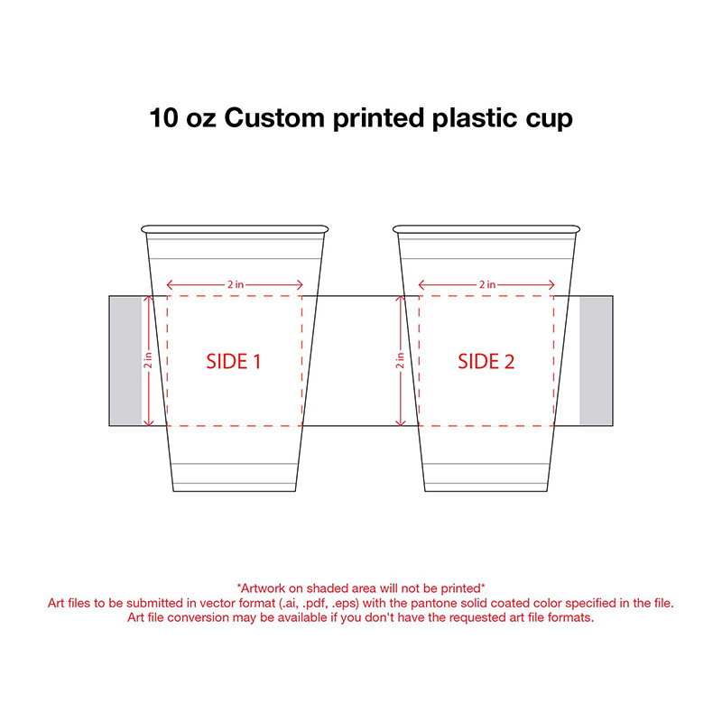 10 oz. Custom Printed Recyclable Plastic