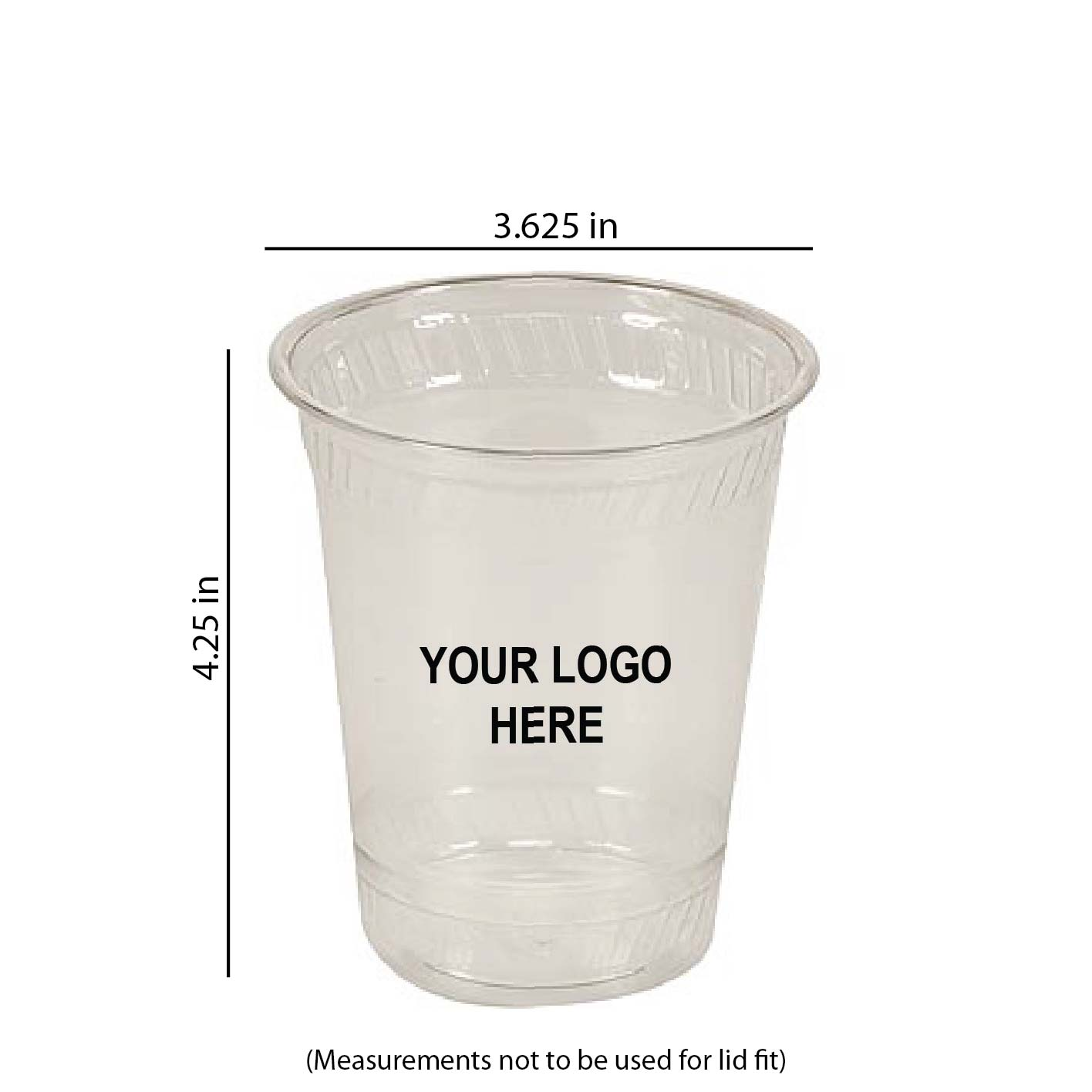 12 oz Custom Printed Compostable Plastic