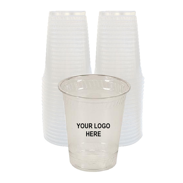 16 oz Custom Printed Compostable Plastic (100/Pack)