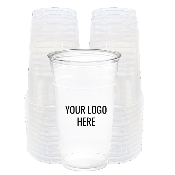24 oz. Custom Printed Recyclable Plastic (100/Pack)