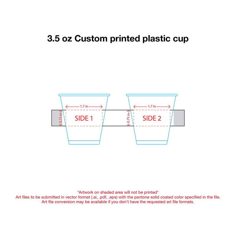 3.5 oz. Custom Printed Recyclable Plastic