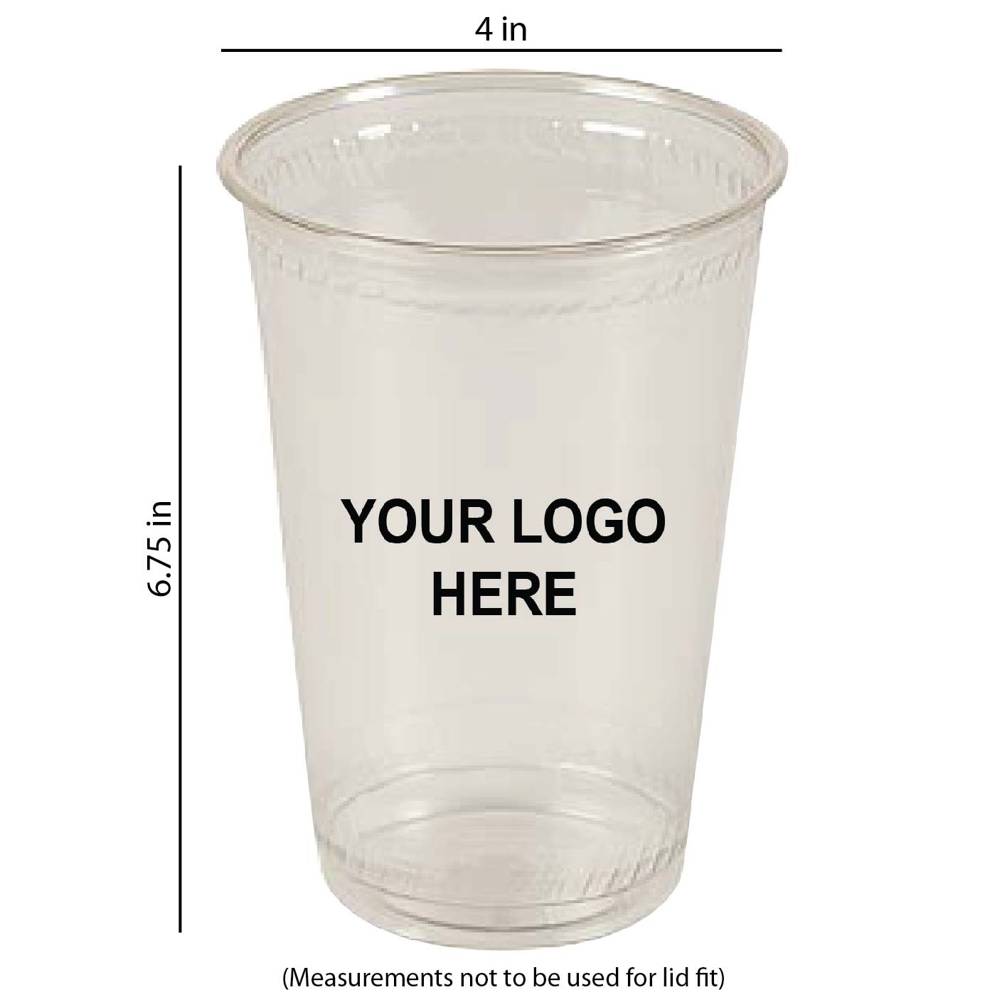 32 oz Custom Printed Compostable Plastic
