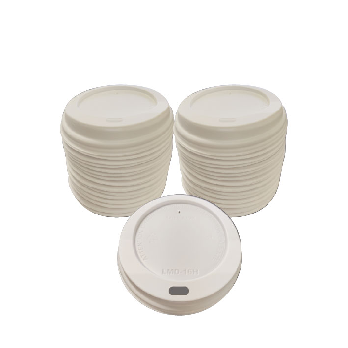 8oz White Dome Lid (100/Pack)