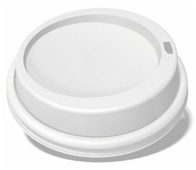8oz White Dome Lid