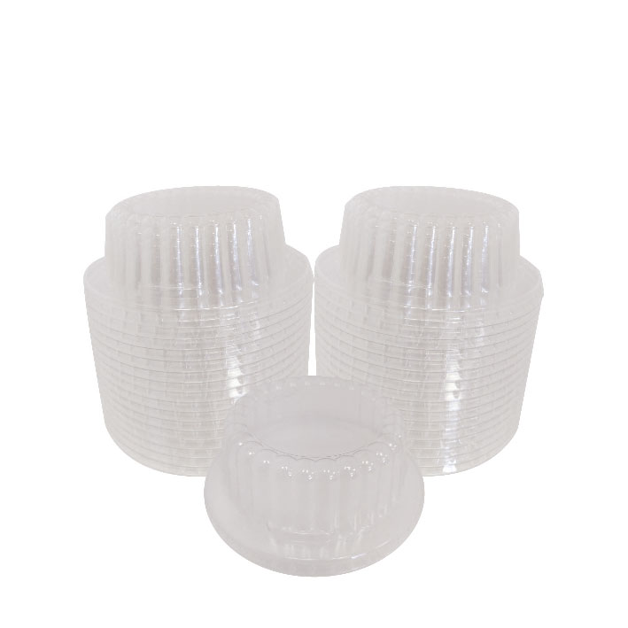 6/8 oz. Ribbed Dome Gelato Lid (100/Pack)