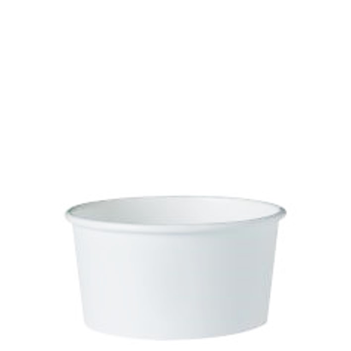 6 oz. Recyclable Gelato Paper Cup (1,000/Case)