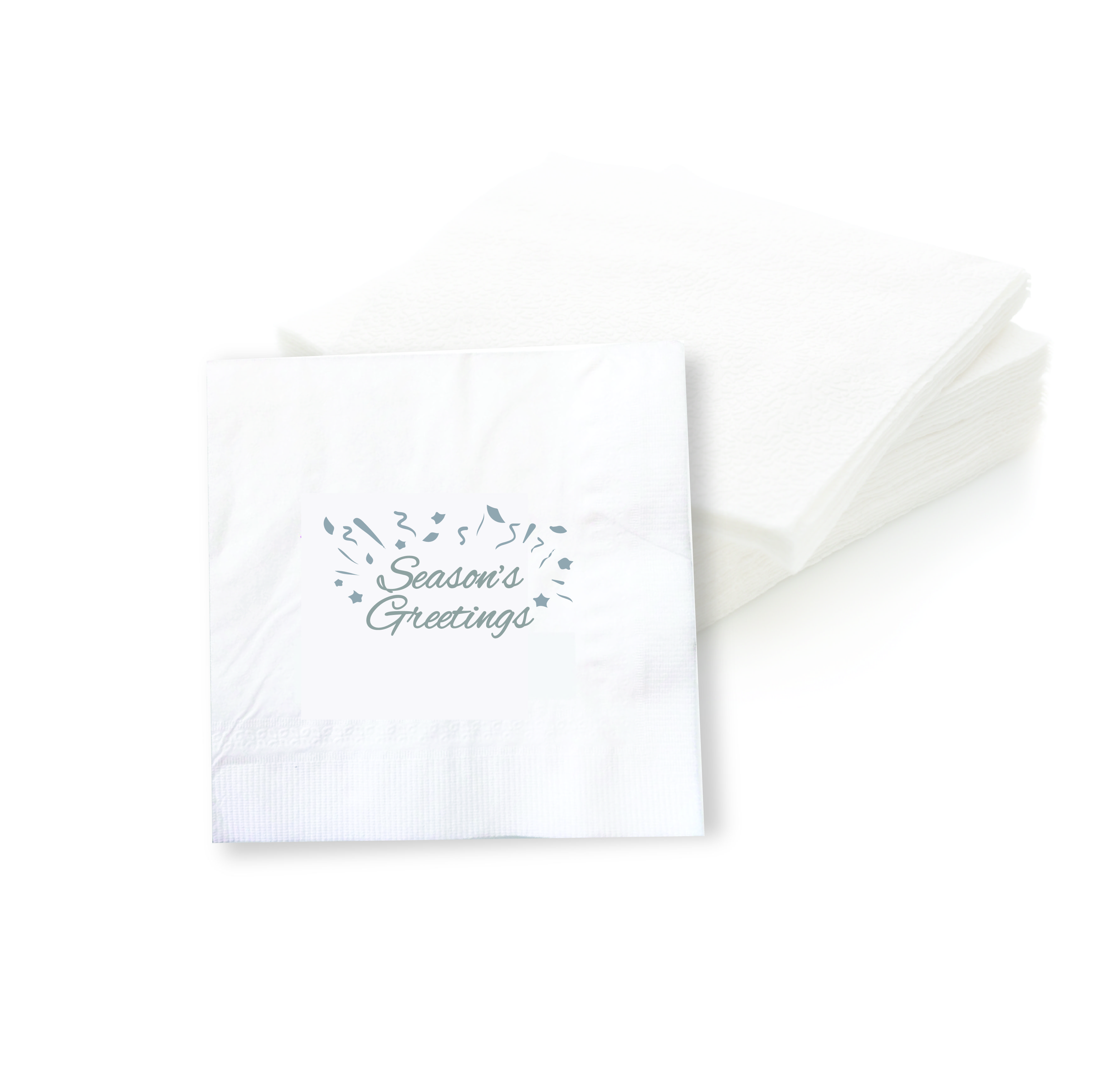 Season's Greetings Cocktail Napkins (Set of 50 Pieces)