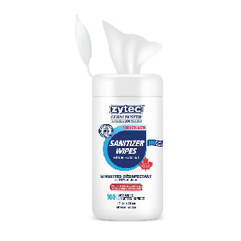 Zytec Sanitizing Wipes (100/Tube)