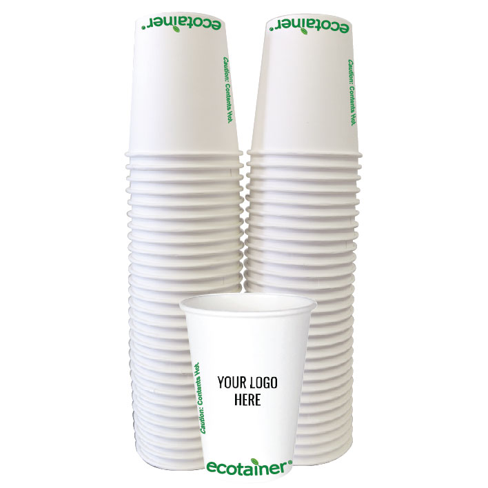 12 oz. Custom Printed Compostable Paper (100/Pack)