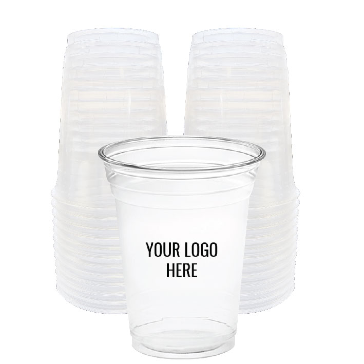 16 oz. Custom Printed Recyclable Plastic (100/Pack)