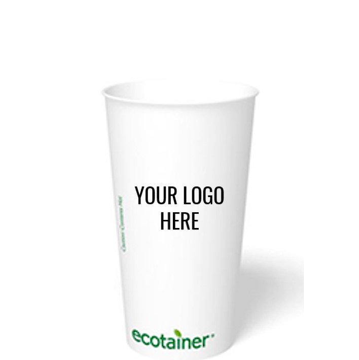 20 oz. Custom Printed Compostable Paper