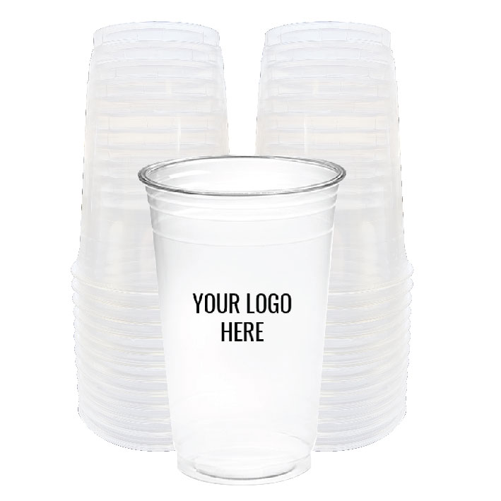 20 oz. Custom Printed Recyclable Plastic (100/Pack)
