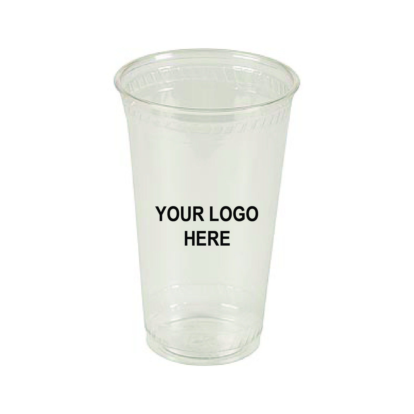 24 oz Custom Printed Compostable Plastic (600/CS)