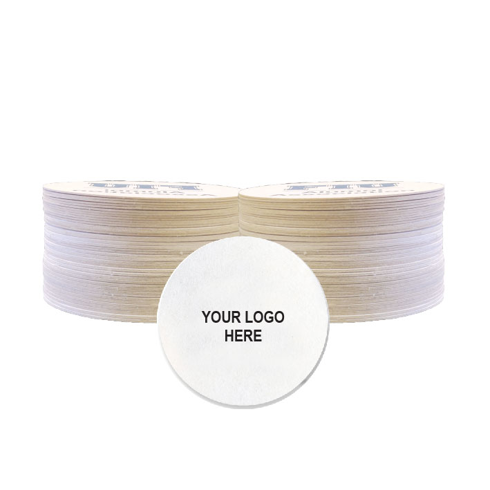 "3.5"" Custom Printed Medium-Weight Round Coaster (100/Pack)"