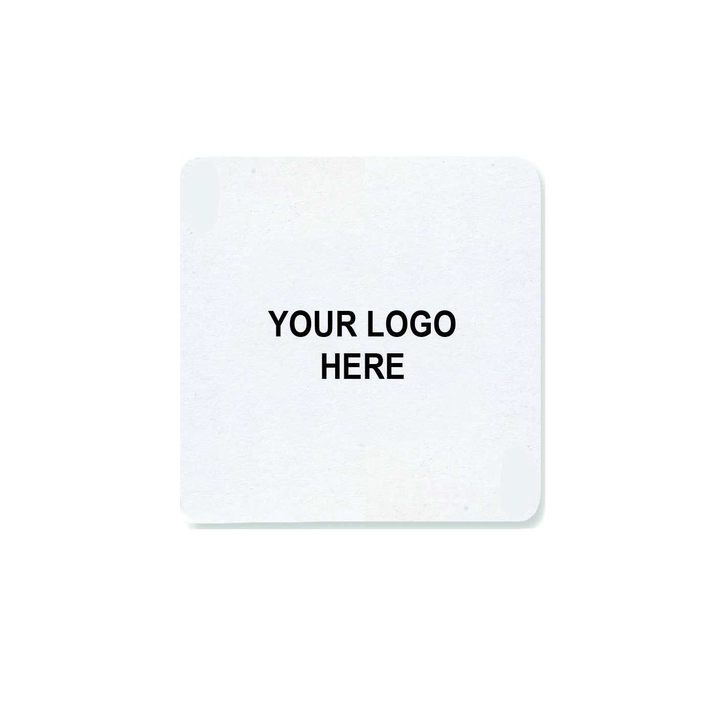 "4"" Custom Printed Medium-Weight Square Coaster (1,000/CS)"