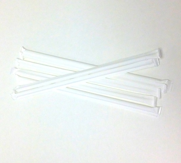 "8"" Wrapped Plastic Straw (Case)"