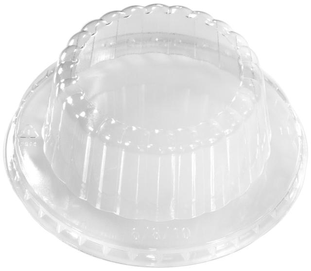 6/8 oz. Ribbed Dome Ice Cream Lid