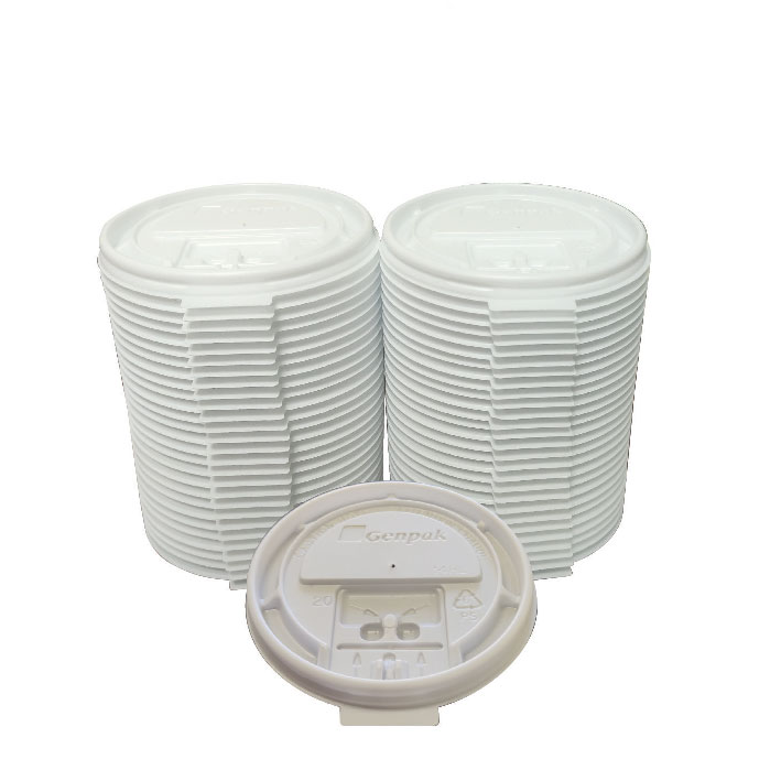 White Lock Back Lid (100/Pack)