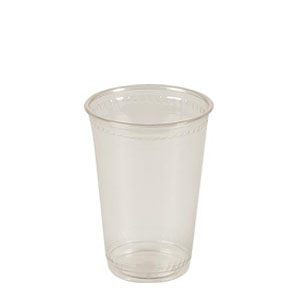 10 oz. Compostable Clear Plastic Cup