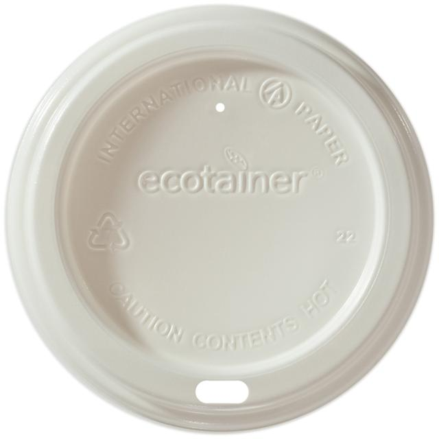 Biodegradable White Dome Lid (1,200/Case)