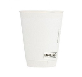 8 oz. Recyclable Paper Double Walled Cup