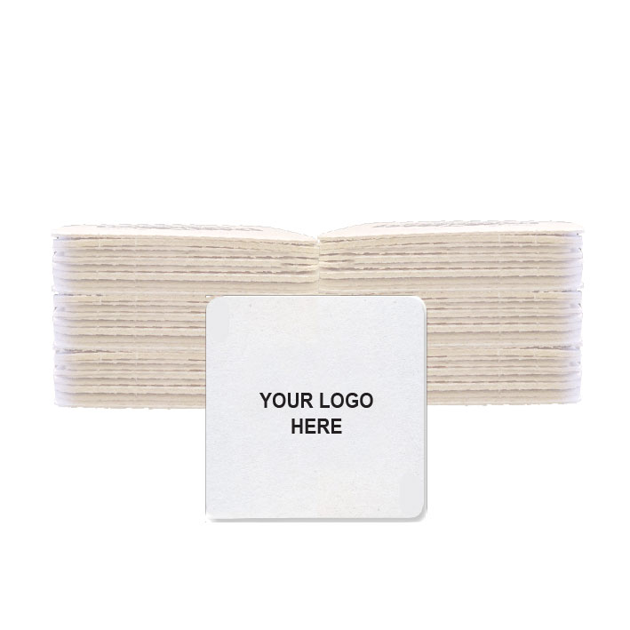 "Light-weight 4"" square coaster (100/Pack)"