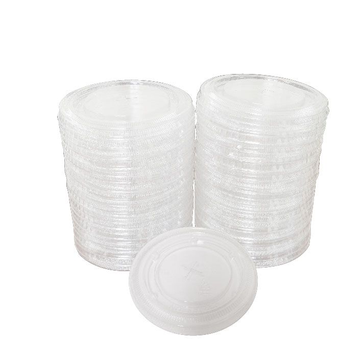 16/24 oz. Compostable Plastic Straw Slot Lid (100/Pack)