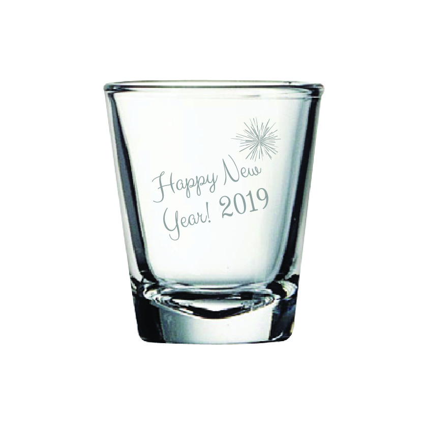 Happy New Year 2 oz. Shot Glass (Set of 12)