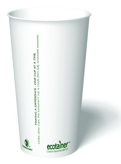 20 oz. Biodegradable Paper Cup